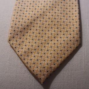 Polo Ralph Lauren Black Label Gold Blue Silk Tie